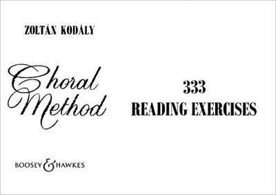 Choral Method Vol. 2 - 333 Reading Exercises - Zoltan Kodaly - Unison Percy M. Young Boosey & Hawkes Choral Score - Adlib Music