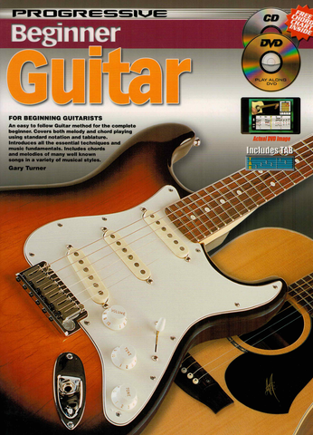 Progressive Beginner Guitar Bk/CD/DVD/Chart