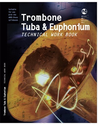 Trombone, Tuba and Euphonium Technical Work Book - Euphonium|Tuba|Trombone AMEB Spiral Bound - Adlib Music