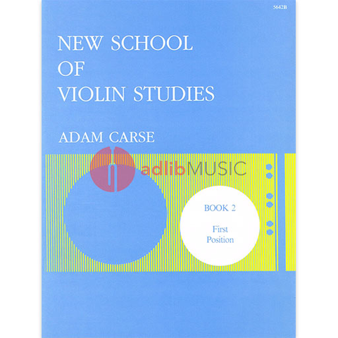 New School Of Violin Studies Book 2 - First Position - Adam Carse - Stainer & Bell