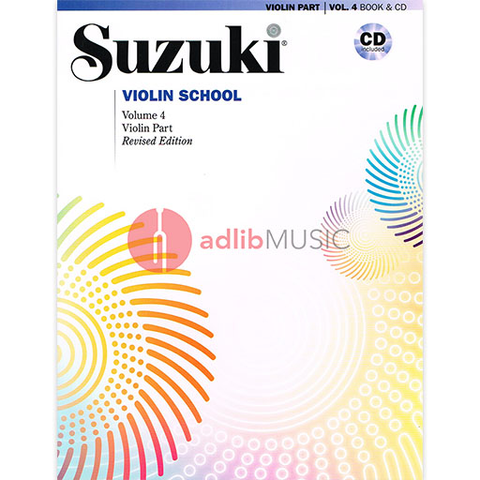 Suzuki Violin School Volume 4 (Revised) Book/CD - Summy Birchard