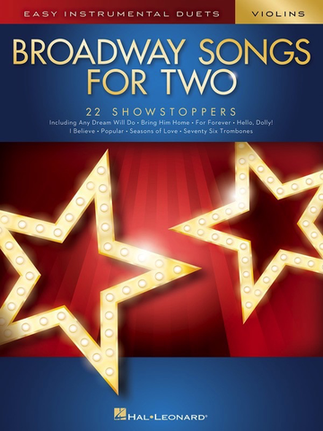 Broadway Songs for Two Violins - Hal Leonard - Violin Duet