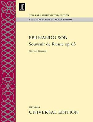 Souvenir de Russie Op. 63 - for Two Guitars - Fernando Sor - Classical Guitar Universal Edition Guitar Duet