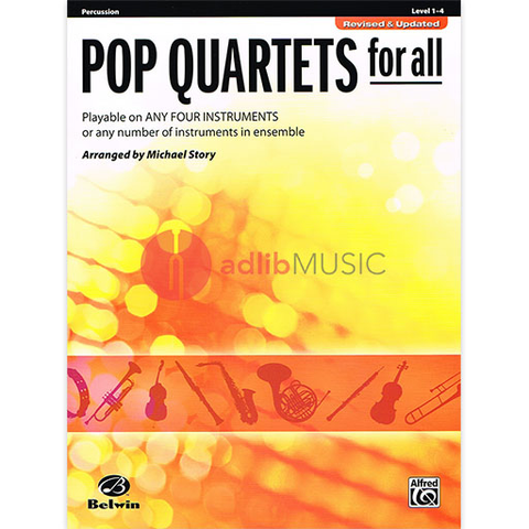 Pop Quartets for All Percussion - Various - Alfred Music
