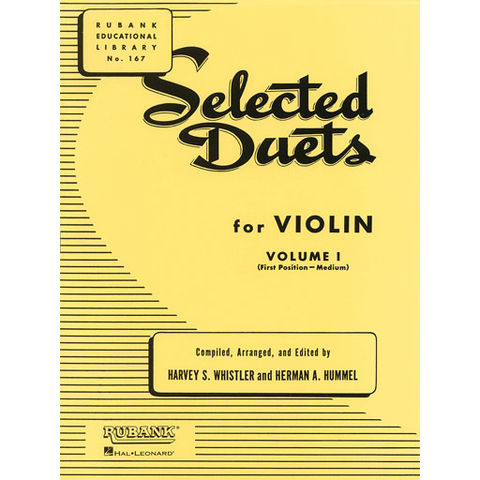 Selected Duets Volume 1 - Violin Duet arranged by Whistler/Hummel 4472660