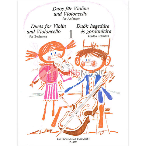 DUETS FOR BEGINNERS VOL 1 VIOLIN & CELLO [PLAYING SCORE] - EMB