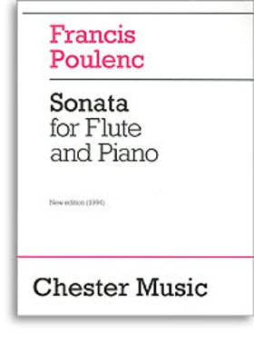 Sonata for Flute and Piano - Revised edition, 1994 - Francis Poulenc - Flute Chester Music - Adlib Music