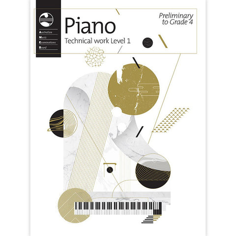AMEB Piano Technical Work 2018  Level 1 (Preliminary to Grade 4) - Piano AMEB 1201105739