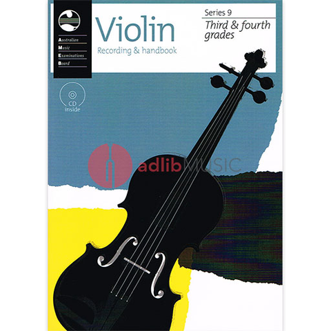 Violin Grade 3 To 4 Series 9 CD/Handbook - Violin AMEB /CD