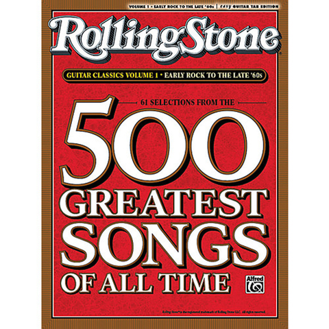 Rolling Stone Magazine 500 Greatest Songs Volume 1 - Easy Guitar Tab Alfred 30125