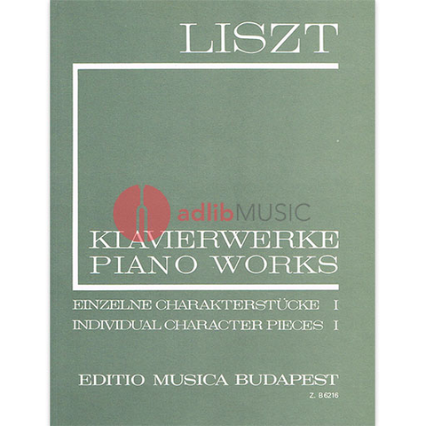 INDIVIDUAL CHARACTER PIECES VOL 1 FOR PIANO SOLO - LISZT - PIANO - EMB