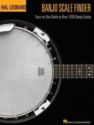 Banjo Scale Finder - 9 inch. x 12 inch. - Easy-to-Use Guide to Over 1,300 Banjo Scales - Banjo Chad Johnson Hal Leonard