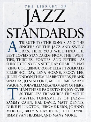 LIBRARY OF JAZZ STANDARDS - PIANO VOCAL GUITAR - Music Sales