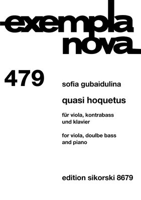 Quasi Hoquetus - for Viola, Double Bass and Piano - Sofia Gubaidulina - Double Bass|Piano|Viola Sikorski Trio Parts