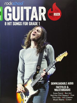 AMEB Rockschool: Hot Rock Guitar - Grade 1 - 8 Hit Songs for Grade 1 - Guitar Rock School Limited Sftcvr/Online Audio