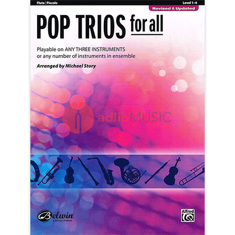 Pop Trios for All - Flute - Various - Michael Story - Alfred Music