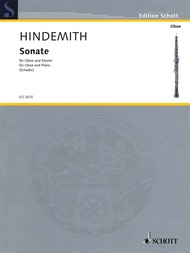 Sonata - Oboe and Piano - Paul Hindemith - Oboe - Schott Music
