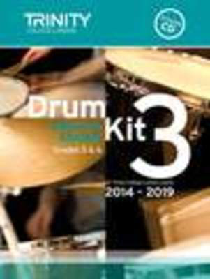 Drum Kit 3 Pieces & Exercises Grades 5 & 6 - for Trinity College London exams 2014-2019 - Drums Trinity College London /CD - Adlib Music