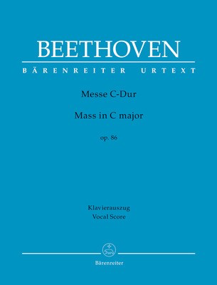 Mass in C major Op. 86 - Vocal Score - Ludwig van Beethoven - Classical Vocal Barenreiter Vocal Score