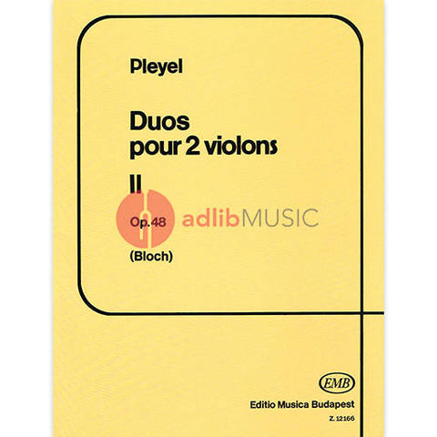 DUOS VOL 2 OP 48 FOR 2 VIOLINS [PLAYING SCORE] - PLEYEL - VIOLIN - EMB