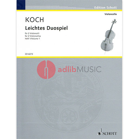 EASY DUETS FOR VIOLINCELLI V1 - KOCH - SCHOTT