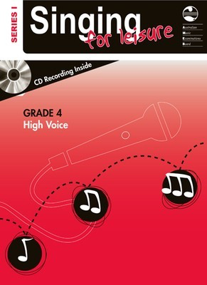Singing For Leisure Series 1 - Grade 4 High Voice - Classical Vocal|Vocal AMEB /CD - Adlib Music