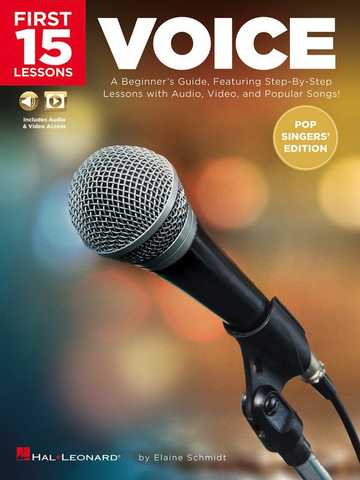 First 15 Lessons - Voice (Pop Singers' Edition) - Vocal - Online Media - Hal Leonard