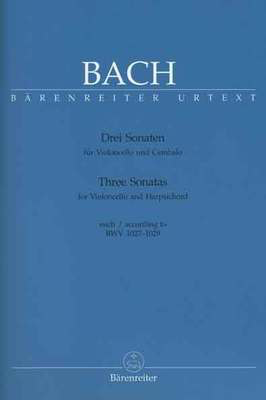 3 Sonatas BWV 1027-1029 - for Violincello and Harpsichord (Piano) - Johann Sebastian Bach - Cello Barenreiter