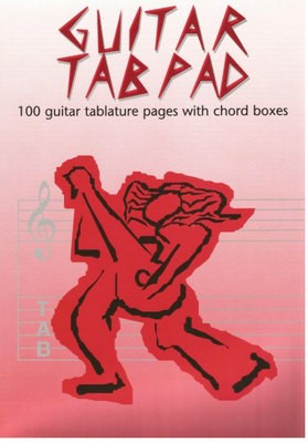 Guitar Tab Pad - 100 Guitar Tablature Pages with Chord Boxes - Guitar All Music Publishing - Adlib Music
