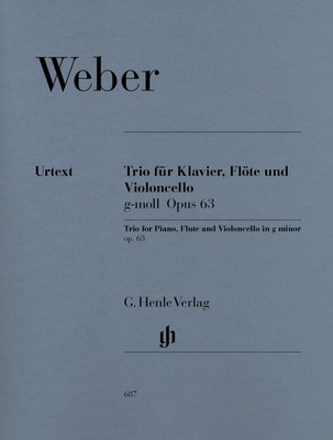 Trio Op. 63 in G minor - for Flute, Cello and Piano - Carl Maria von Weber - Flute|Piano|Cello G. Henle Verlag Piano Trio Parts