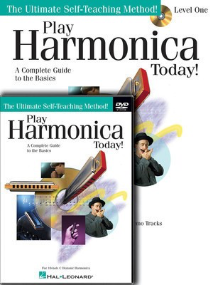 Play Harmonica Today! Beginner's Pack - Level 1 Book/CD/DVD Pack - Harmonica Lil' Rev Hal Leonard /CD/DVD