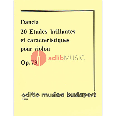 20 Etudes Brillantes and Caracteristiques Op. 73 - Violin - Dancla - Edited by Lenkei - EMB