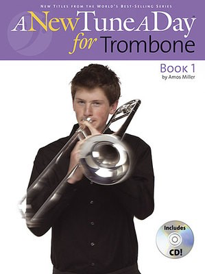 A New Tune A Day for Trombone - Book 1 - (CD Edition) - Trombone Amos Miller Boston Music /CD