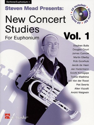 Steven Mead Presents: New Concert Studies for Euphonium - Vol. 1 Bass Clef - Baritone|Euphonium Steven Mead De Haske Publications /CD