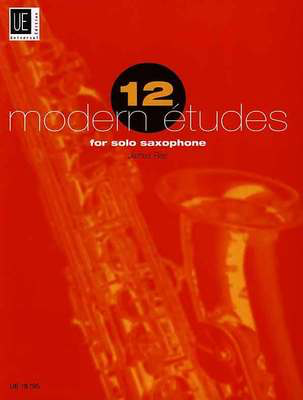 12 Modern Etudes for Solo Saxophone - James Rae - Saxophone Universal Edition - Adlib Music