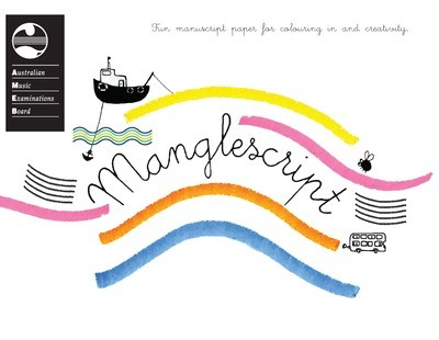 Manglescript Pad - Fun manuscript paper for colouring in and creativity. - AMEB