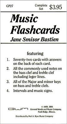 Flash Cards - James Bastien Neil A. Kjos Music Company Flash Cards - Adlib Music