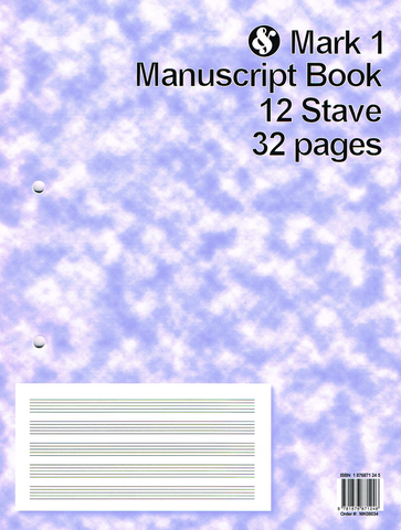 Manuscript Book Mark 1 12 Stave 32 Page - Music Sales
