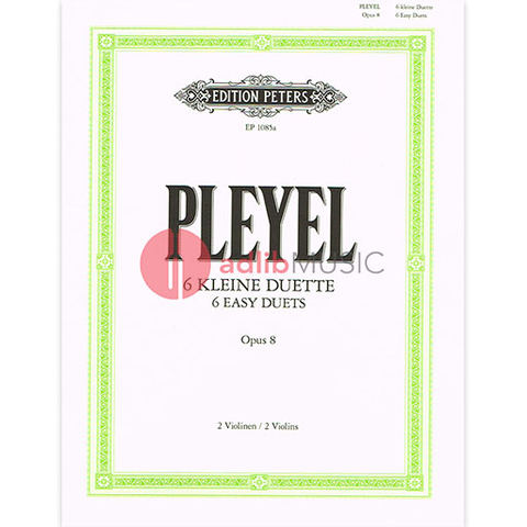 DUETS EASY 6 OP.8 VIOLIN - PLEYEL - PETERS