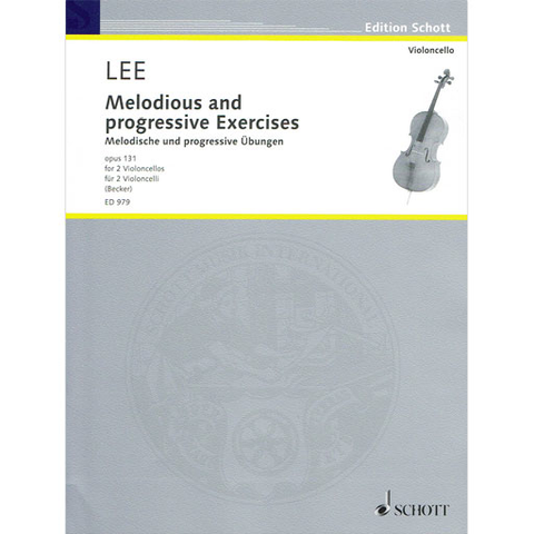 Lee - Melodic Studies Op131 - Cello Duet Schott SCED979