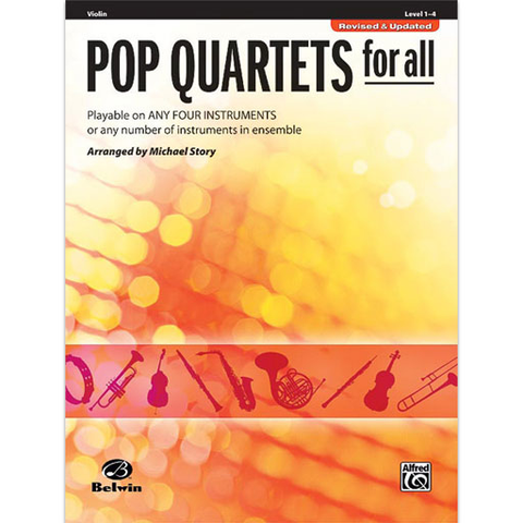 Pop Quartets for All - Violin Quartet Warner Bros 30717