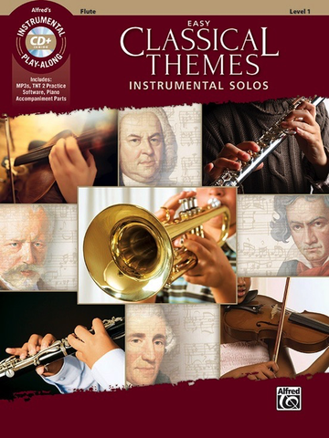 Easy Classical Themes Instrumental  Solos Level 1 Book/CD - Flute - Alfred Music