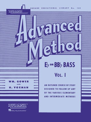 Rubank Advanced Method, Vol. 1 - Bass/Tuba (B.C.) - Tuba Rubank Publications