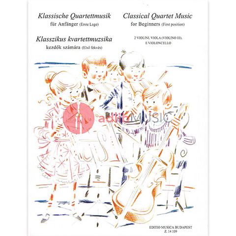 CLASSICAL QUARTET MUSIC FOR BEGINNERS 1ST POS - STRING QUARTETS - EMB