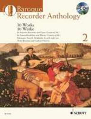 Baroque Recorder Anthology Volume 2 - 32 Works for Descant Recorder with Piano/Guitar Accompaniment - Descant Recorder Schott Music - Adlib Music