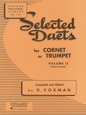 Selected Duets for Cornet or Trumpet - Volume 2 - Advanced - Trumpet Rubank Publications Trumpet Duet