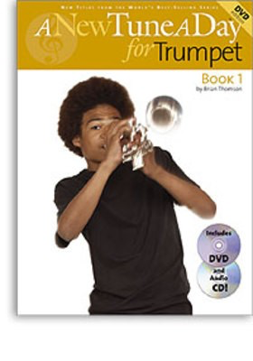 A New Tune A Day for Trumpet - Book 1 - (CD/DVD Edition) - Trumpet Brian Thomson Boston Music /CD/DVD - Adlib Music