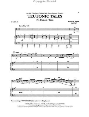 Teutonic Tales - Tuba solo with piano accompaniment - Robert W. Smith - Tuba C.L. Barnhouse Company