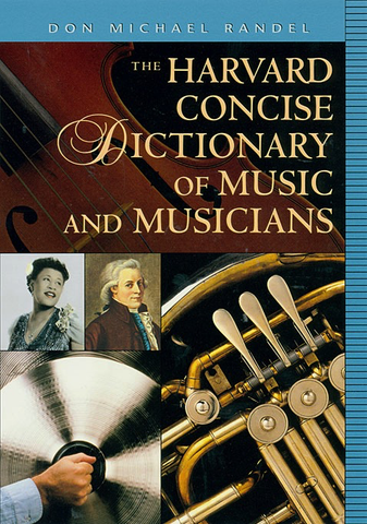 HARVARD CONCISE DICTIONARY OF MUSIC - Warner Bros