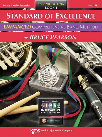 Standard of Excellence Enhanced Book 1 - Drum & Mallet Percussion Part/CD by Pearson Kjos PW21PR